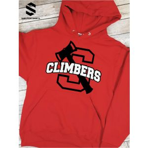 S Shelton Logo with Axe Climbers Hoodie Sweatshirt